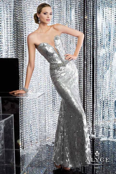 Silver Long Gown