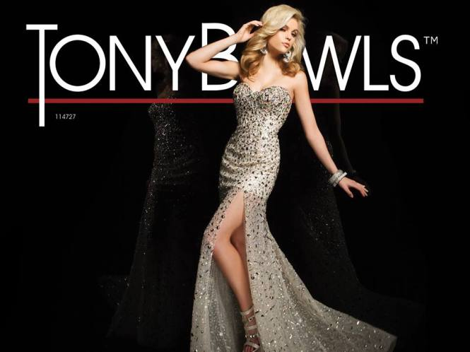 Edgy Embellished Glamour Gown by Tony Bowls Paris, Style 114727...why not add a bit of spice to your night !!!!